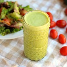 This HEALTHY Italian Dressing houses a secret ingredient that adds creaminess WITHOUT mayo, eggs, nuts, or dairy! {Vegan, Paleo}