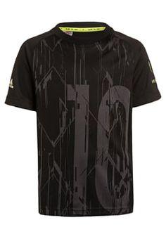 adidas Performance - MESSI - T-shirts print - black/dark grey