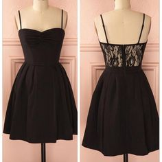 little black dresses, A-line homecoming dresses, black homecoming dresses, beaded homecoming dresses, short prom dresses, lace homecoming dresses, spaghetti straps homecoming dresses, graduation dresses, party dresses, formal dresses#SIMIBridal #homecomingdresses