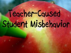 Bad kids are just bad, right? Wrong. In fact, there are a variety of teacher-caused misbehaviors. Are you unintentionally encouraging your students to act up? Find out here!