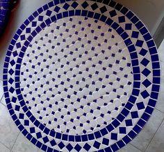 Tampo de mesa mosaico