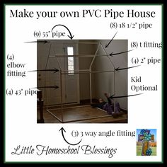 Little Homeschool Blessings: PVC Pipe Play House