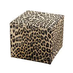 Discover the Amara Panther Printed Cow Skin Cube Pouf at Amara www.amara.com