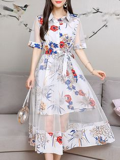 Cheap best Lace Layers Turn-down Collar Dresses for Women on Newchic, there is always a plus size casual dresse suits you! Pretty Outfits, Pretty Dresses, Girls Fashion Clothes, Fashion Outfits, Dress Fashion, Stylish Dresses For Girls, Frack, Classy Dress, Collar Dress