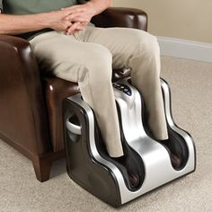 The Heated Circulation Enhancing Lower Leg Massager - Hammacher Schlemmer. This is the grand finale gift! After my hard work and a very successful famous couples Valentine party, I would relax in my new present. Perfect ending to a stunning night.  #myreviewsnow