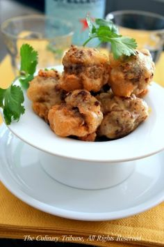 Beer Battered Stuffed Mushrooms