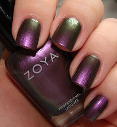 "zoya ""ki"" - metallic duochrome (multichrome?) purple/olive/silver"