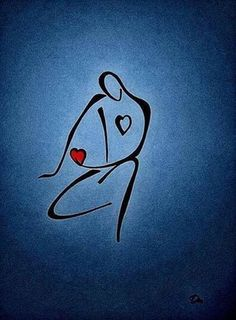 Love-ly Line Drawing on imgfave Images D'art, Minimalist Art, Vector Graphics, Line Drawing, Rock Art, Easy Drawings, Mail Art, Art Pictures, Silhouettes