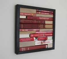 Book Framed--Someone else would have to chop up the books for me--I couldn't do it!