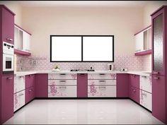 Best 12 Stylish Purple Kitchen Design Inspirations : Beautiful Creamy and Purple. Purple Kitchen Designs, Kitchen Wall Design, Simple Kitchen Design, Kitchen Cabinet Design, Interior Design Kitchen, Kitchen Decor, Kitchen Cabinets, Kitchen Paint, Glossy Kitchen