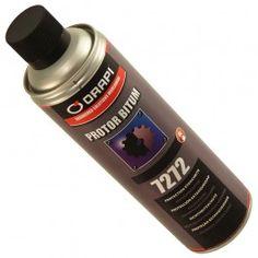 Spray impermeabilizante bituminoso Protor Bitum pensado para reparar filtraciones y para la reparación de goteras en lugares de difícil acceso.