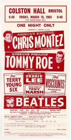 Stock Photo - 000724 - The Beatles Concert Handbill from the Rialto in York on March 1963