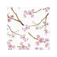 Sakura Cherry Blossom Canvas Print #sakura #cherryblossom #cherryblossoms #pattern #spring #summer #blossom