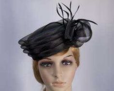 ca6984812565 Mother of the Bride pillibox church hat buy online in USA H892 Black  Fascinator, Headpiece