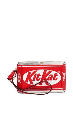 Kit Kat Clutch In Bright Red Capra Leather by Anya Hindmarch for Preorder on Moda Operandi