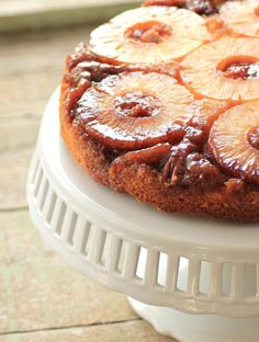 Pineapple Upside Down Cake for Bringing Back Retro Recipes--was my absolute favorite cake when I was a small child