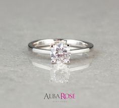 D32382 - Alba Rose diamond round solitaire engagement ring http://www.albarose.com/product/d32382_4050