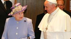 Britain's Queen Elizabeth II meets Pope Francis for the first time on Thursday, April 3, at the Vatican.