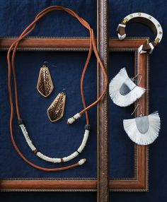 Noonday Collection, Fair Trade, Jewelry, Artisan, Ethical Fashion, Noonday Style, Handmade, Necklace, Desert Lariat Necklace, Horn and Glass Beads, Leather, Haiti