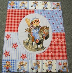 Cute New Baby Crib Quilt Raggedy Andy Rocking Horse