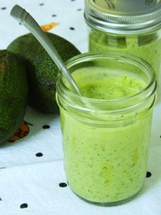CREAMY AVOCADO DRESSING - 1 medium, ripe organic avocado  1 cup bottled spring water  3 tbsp extra virgin organic olive oil  2 organic garlic cloves  1/2 organic lemon, juiced  1/2 tsp dried organic dill weed or a small handful fresh dill, chopped  1/2 tsp organic onion powder  small handful fresh organic parsley, chopped   sea salt and fresh ground pepper, to taste
