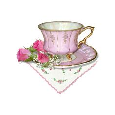 Home sweet home ❤ liked on Polyvore featuring teacups, pink, tea, decor and tea cups