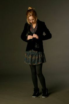 Britt Robertson wardrobe fitting for Lux Cassidy on Life Unexpected