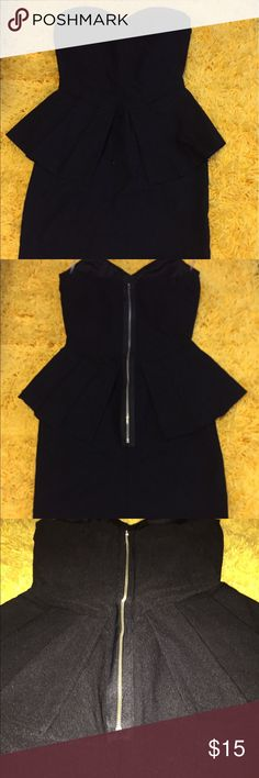 LBD - little black strapless dress never worn This is a beautiful black and stretchy dress with cool hip flaps to accentuate ones curves. The paper tag is missing, but the plastic attachment and rubber straps to hang it up are still there. I haven't worn this and don't see a use for it. Open to offers! This dress is so flattering, I wish I had somewhere to wear it Dresses Strapless