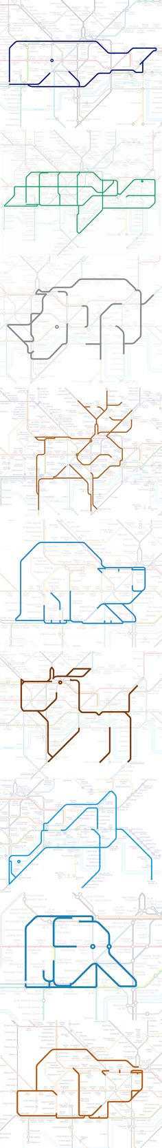 Sweet idea of Paul Middlewick's. As a pass time it might help familiarise right-brainers with London! Map Design, Print Design, Logo Design, Design Package, Information Design, 3d Prints, Design Graphique, Grafik Design, Graphic Design Inspiration