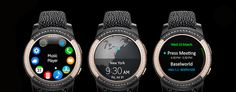 Samsung Gear S2 by de Grisogono was a surprising release. This smartwatch, made specifically for women, has a 4GB internal memory—and 56 white diamonds and71 black diamonds.