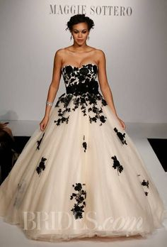Maggie Sottero Wedding Dresses - Black lace gown
