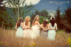 How beautiful is this wedding party at our  amphitheater at Skamania Lodge? Vanessa + Jonathan, Rachel Lecrone Photography