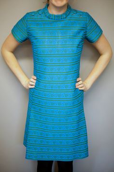 Sixties Aline Mod Dress by LucaAndRoo on Etsy, $35.00