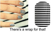 DIY manicure, black white stripe, NAILED IT! There's a wrap for that! Pinstripe nails, nail art