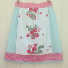 vintagegreyhandmade's photo: Finished this sweet vintage strawberry picnic apron that will be headed to the shoppe come mid June!