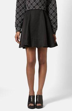 Women's Topshop Boutique Grosgrain Paneled Flippy Skirt