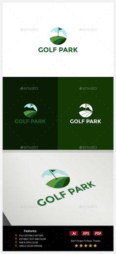 Golf Park - Logo Design Template Vector #logotype Download it here: http://graphicriver.net/item/golf-park-logo/10219261?s_rank=1309?ref=nexion