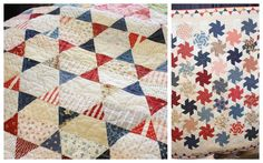 The stars shine in this simple half hexagon w/ triangles, I want to do this! | Diary of a Quilter