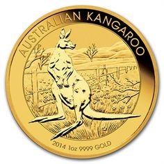2014 1 oz Australian Gold Kangaroo