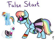 #801522 - artist:milchik, fusion, magical lesbian spawn, oc, offspring, photo finish, rainbow dash, safe - Derpibooru - My Little Pony: Friendship is Magic Imageboard