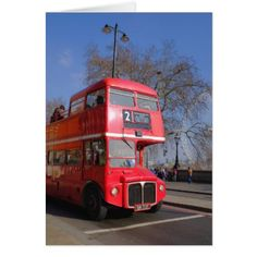 1958 Routemaster Bus London UK Greeting Card - birthday cards invitations party diy personalize customize celebration