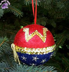 Wonder woman!  Wonder woman christmas ornament