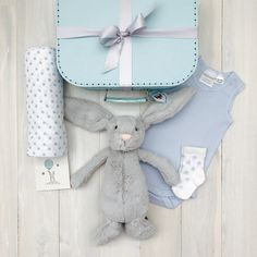 Adorable Bunny Hamper including the very popular Bashful Bunny from JellyCat. Perfect gift for the little newborn baby boy! Baby Hamper, Baby Baskets, Baby Boy Newborn, Baby Baby, Soft Feet, Jellycat, Baby Keepsake, Gift Hampers