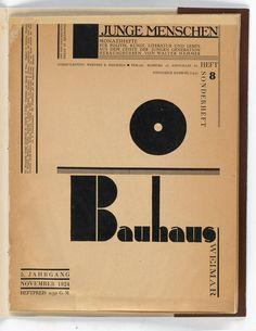JOOST SCHMIDT (1893-1948) BAUHAUS WEIMAR / JUNGE MENSCHEN. Magazine. 1924. 12 1/4x9 1/2 inches, 31x24 cm. Hamburg.