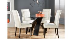 picture of Del Mar Ebony 5 Pc Round Dining Set from Dining Room Sets Furniture Dining Room Table Chairs, Glass Dining Table, Table And Chair Sets, Dining Room Sets, Dinning Set, Room Chairs, Rooms To Go Furniture, Luxury Furniture, Office Furniture