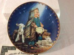 Bradford Exchange The Little Drummer Boy Musical Plate 1995 Christmas #14000A #BradfordExchange