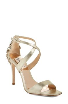 Badgley Mischka 'Cadence' Crystal Embellished Sandal (Women) available at #Nordstrom