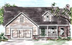Elevation of Country   House Plan 68876