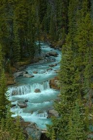 Romantic honeymoon for those that enjoy nature n the outdoors - Jasper National Park, Alberta, Canada Places Around The World, Oh The Places You'll Go, Places To Travel, Places To Visit, Around The Worlds, Beautiful Waterfalls, Beautiful Landscapes, Parc National, National Parks