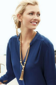 You can wear any blue top and accent with a gold necklace to show your Epic school spirit!